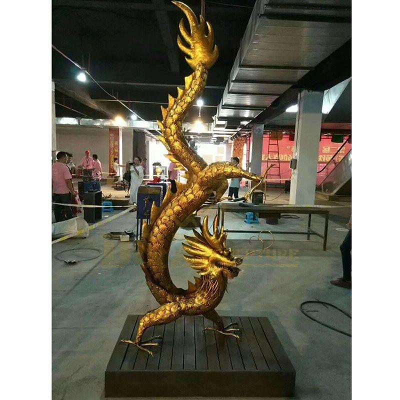 Outdoor Garden Decoration Bronze Dragon Statue