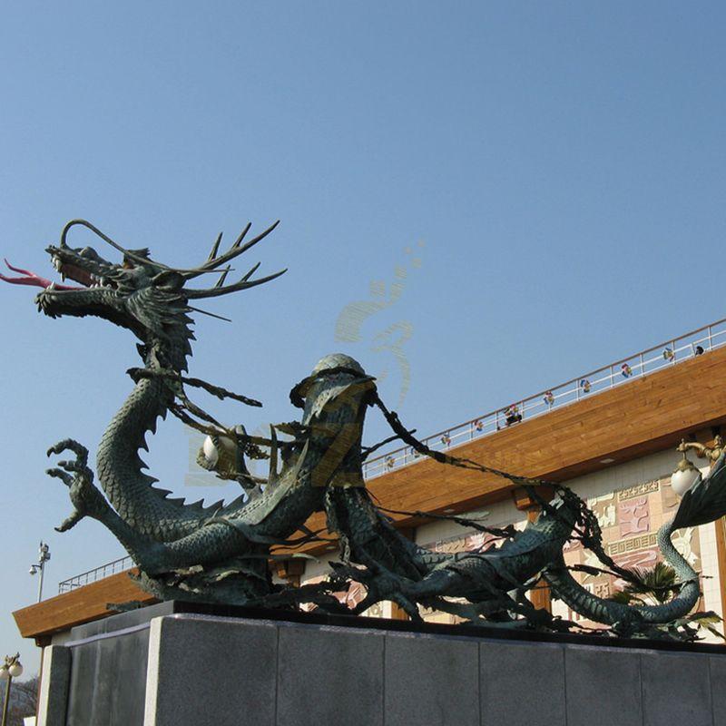 Large Casting Bronze Bronze Dragon Sculpture