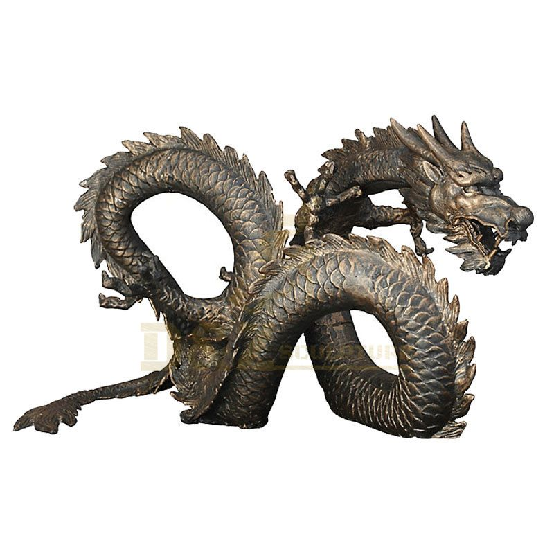 Western Classical Outdoor Decoration Bronze Dragon Statue
