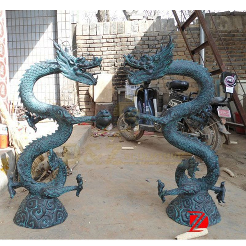 Outdoor Decoration Dragon Bronze Statue