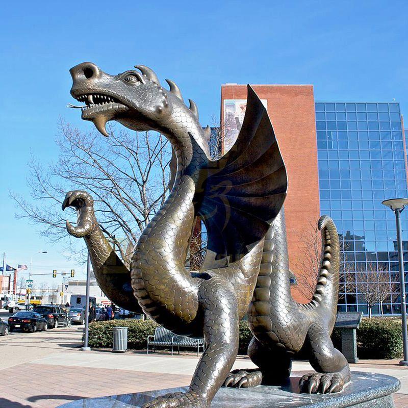 Bronze Metal Dragon Sculpture Garden Sculptures