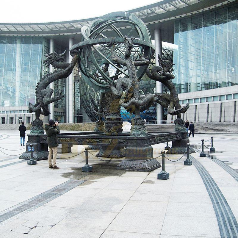 Wholesale Antique Bronze Metal Crafts Dragon Statue Sculpture for Sale