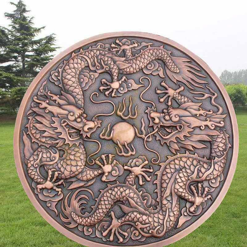 Hot Casting Outdoor Garden Decorative Chinese Bronze Dragon Sculptures