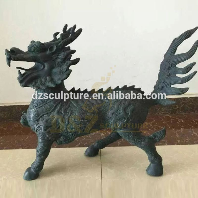 Hand Made Customized Size Bronze Dragon Sculptures for Garden Decoration