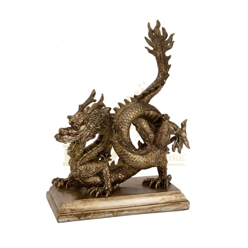 Hot Sale Customized Metal Crafts Brass Dragon Statues