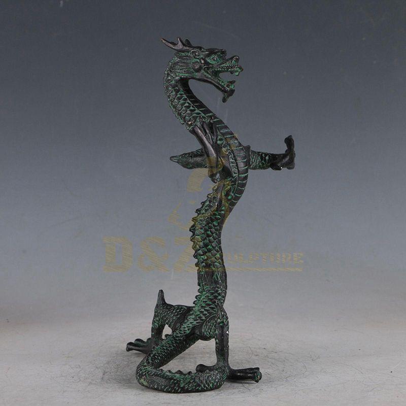 Square Decor Bronze Dragon Sculpture For Sale