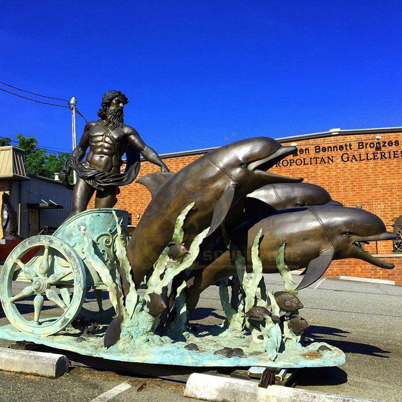 Garden Decoration Bronze Dolphin Statue Bronze Sculpture
