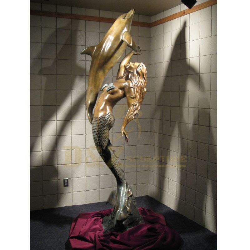 Decorative Bronze Customized Design Dolphin Sculpture