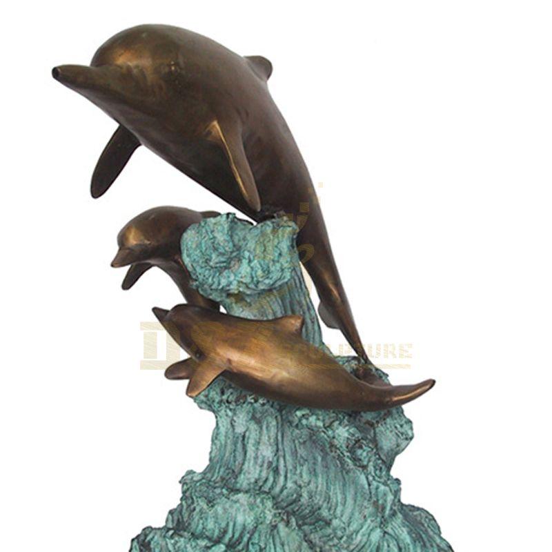 China manufacturer Metal Animal Bronze Dolphin Sculpture