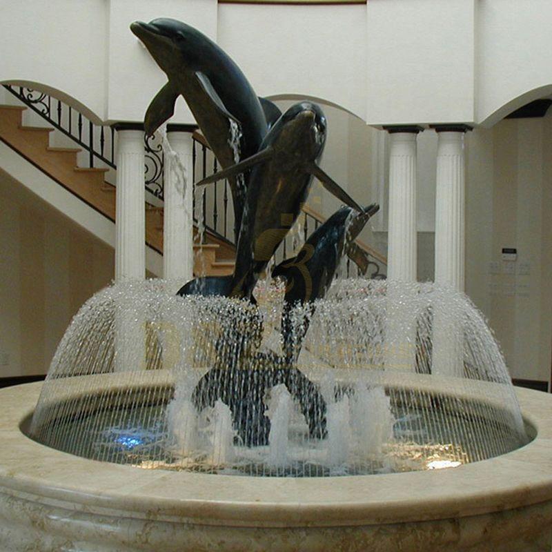 Hot Selling Outdoor Garden Bronze Dolphin Art Sculpture