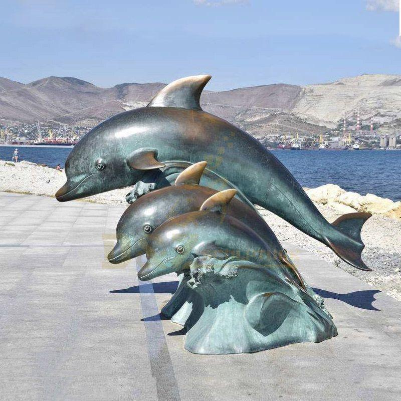 Decorative Bronze Customized Design Dolphin Sculpture