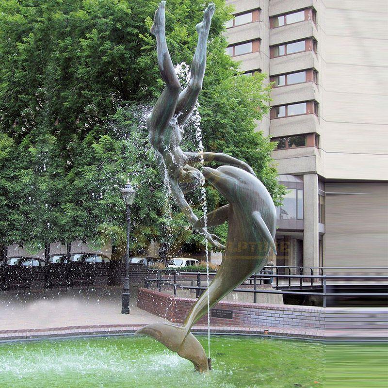 High Quality Custom Bronze Dolphin Sculpture