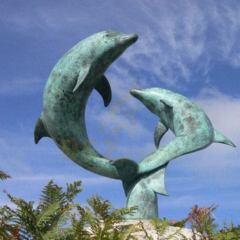 Outdoor Bronze Dolphin Sculpture