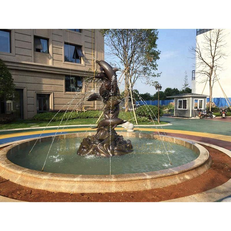 Garden Decor Casting Foundry Life Size Bronze Dolphin Sculpture
