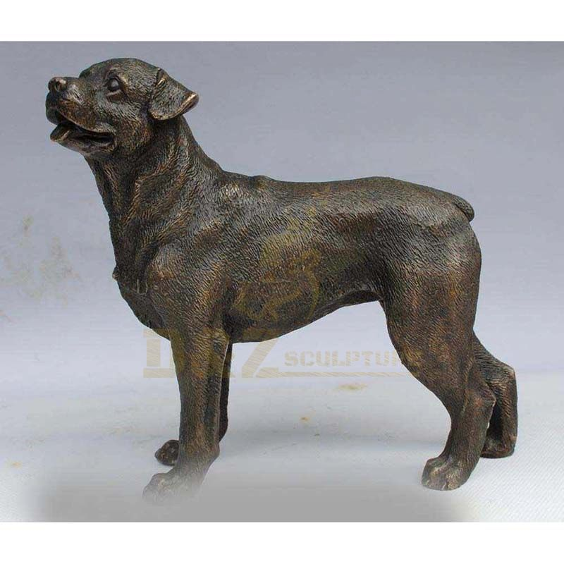 Custom Life Size Metal Animal Statue Bronze Dog Sculpture