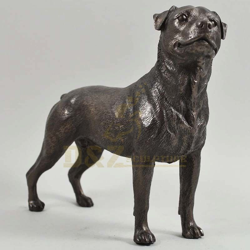 Metal Craft Bronze Cast Dog Bronze Metal Animal Sculpture