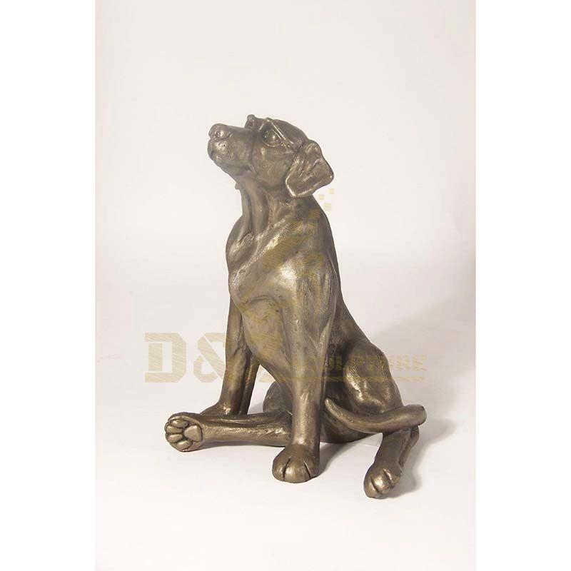 Outdoor Home Decor Garden Animal Metal Art Craft Cast Bronze Famous Dog Sculpture