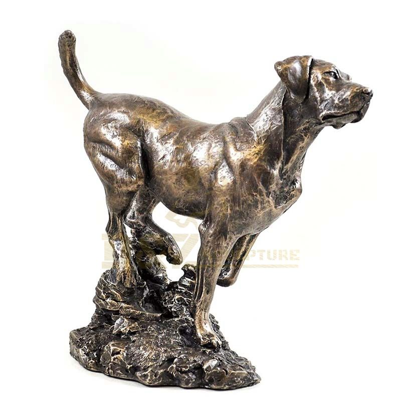 Home Decor Hot Casting Bronze Dog Abstract Statue Sculpture