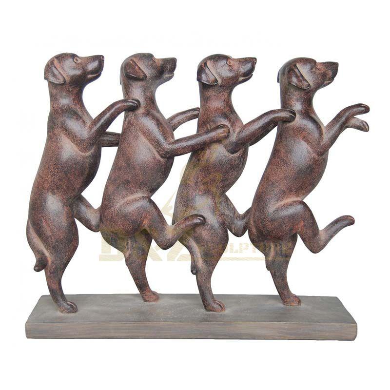 Ornament Metal Brass Bronze Art Sculpture Bronze Dog Sculpture