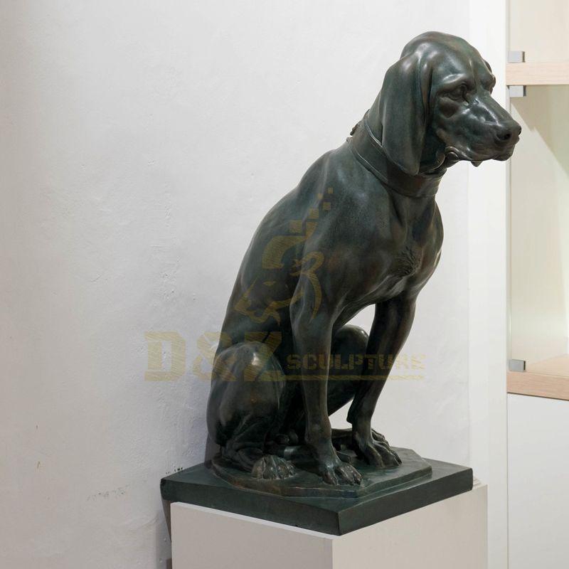Bronze Hunting Dog Statue Brass Bronze Dog Sculpture