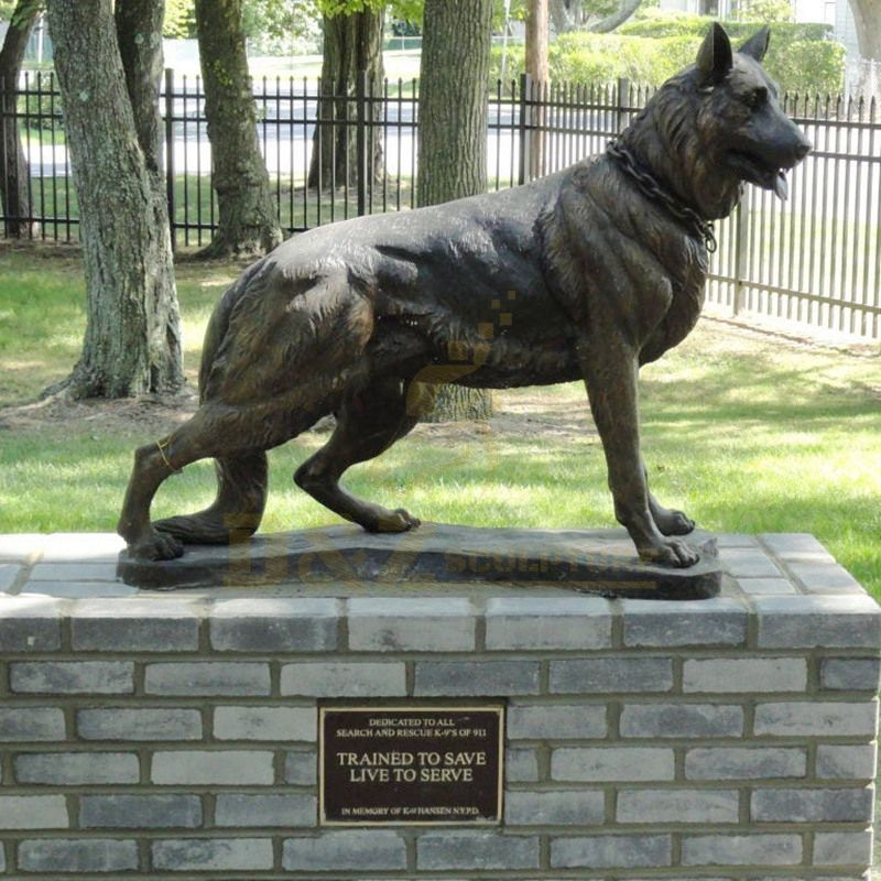 Outdoor Decoration Life Size Bronze Dog Sculpture For Sale