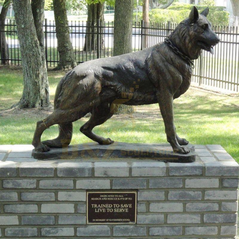 Outdoor Decoration Life Size Bronze Dog Sculpture For Sale