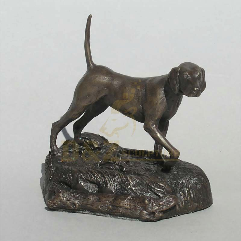 Best Selling Life Size Antique Bronze Dog Sculpture