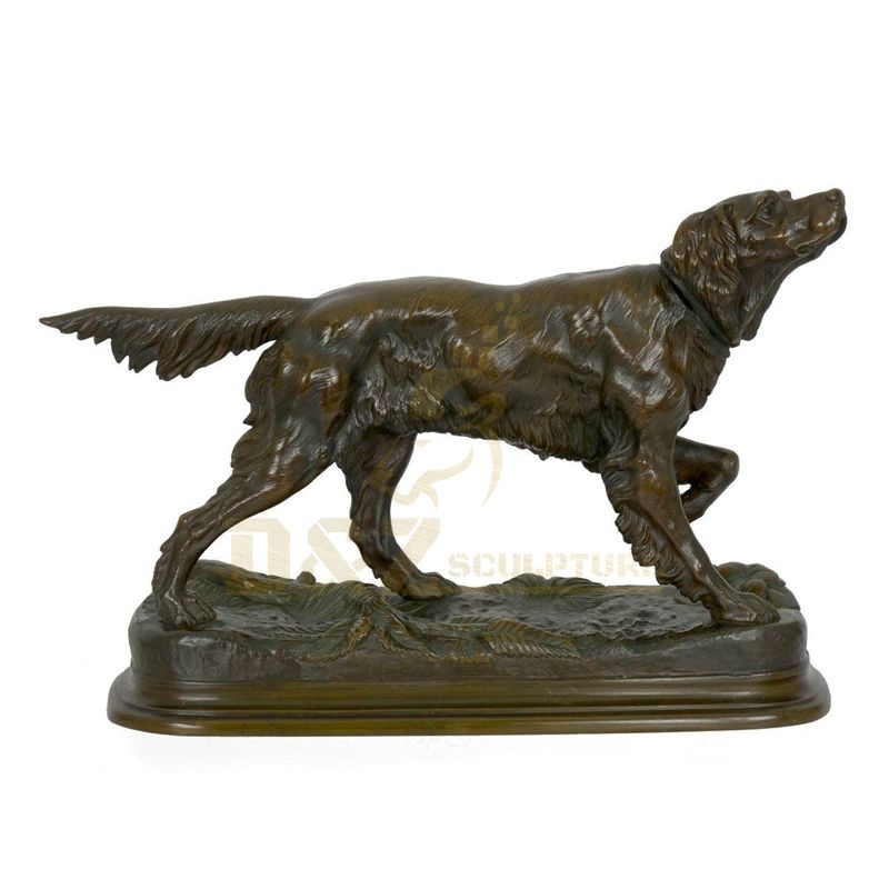Customized Life Size Bronze Dog Statue Outdoor Copper Animal Sculpture