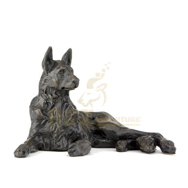 Dog Bronze Sculpture For Garden Decoration