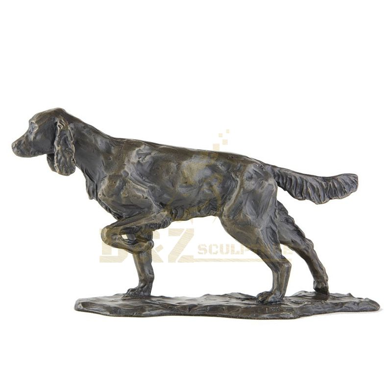 Garden Decoration Life Size Bronze Dog Sculpture