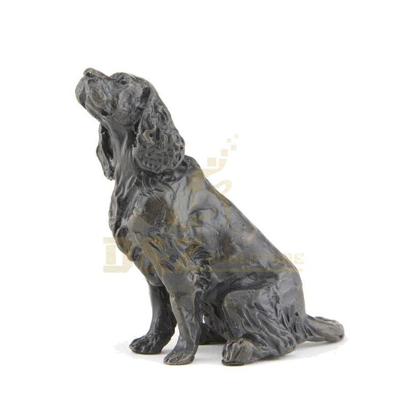 Handmade Welded Home And Hotel Metal Bronze Dog Animal Sculpture
