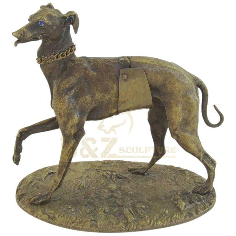 Large Garden Brass Dog Sculpture For Public