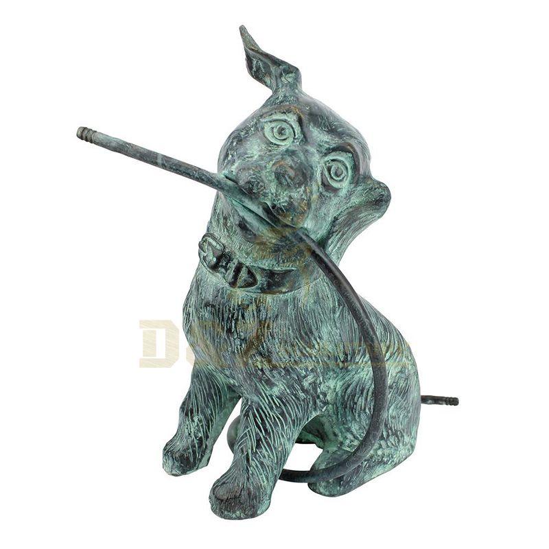 Life Size Garden Animal Brass Puppy Bronze Dog Statue Sculpture
