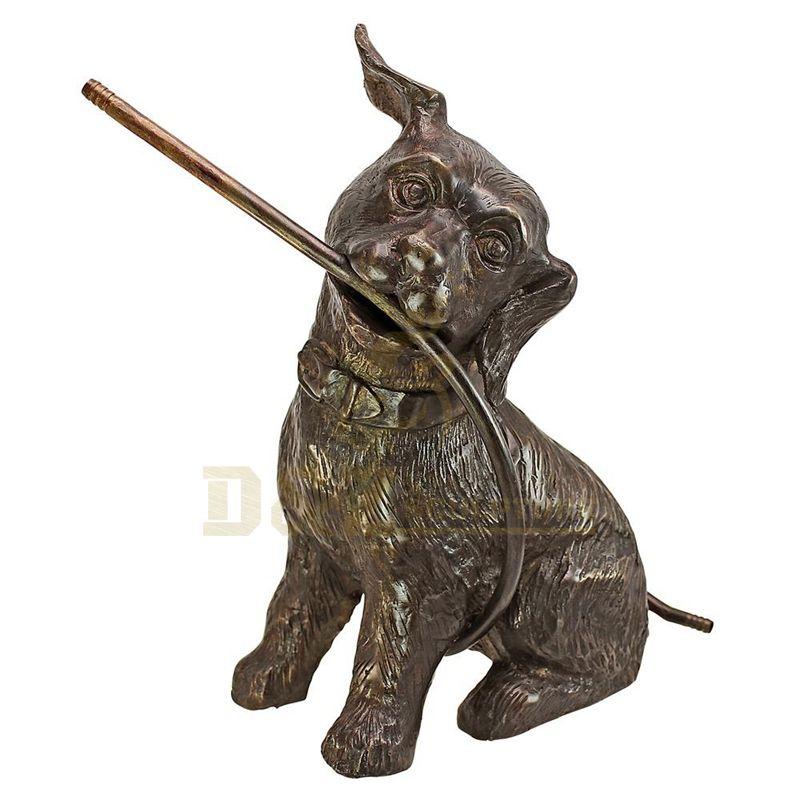 Life Size Decorative Dog Sculpture Bronze Dog Statue