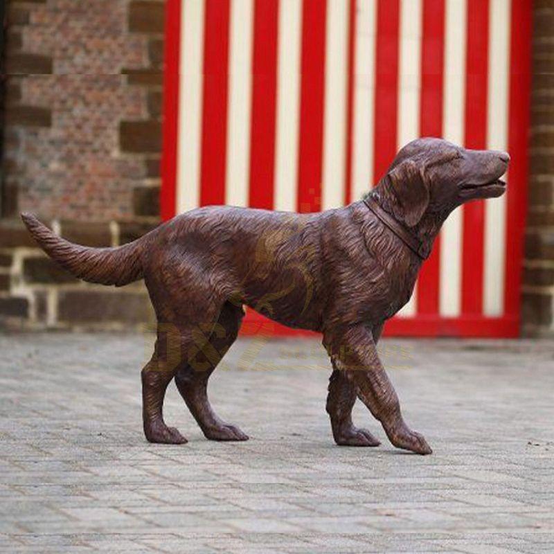 Metal Brass Bronze Art Sculpture Bronze Dog Sculpture