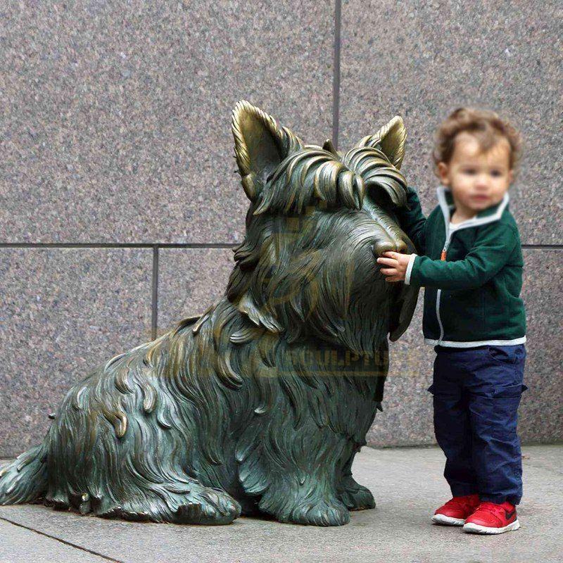 Home Decoration Small Brass Sculptures Brass Dog Statue