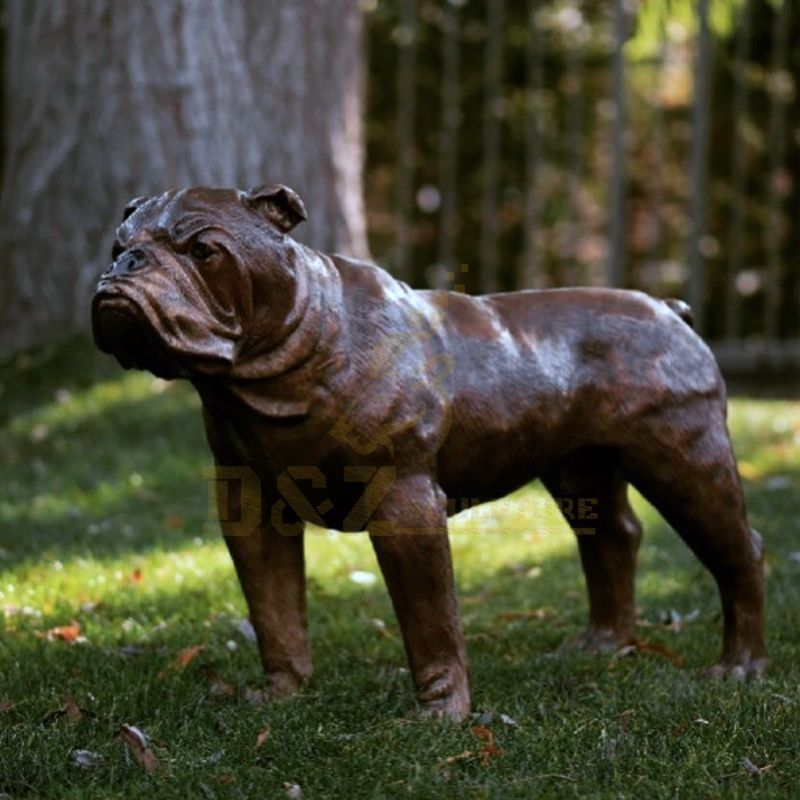 Garden Park Animal Decoration Modern Life Size Dog Sculpture