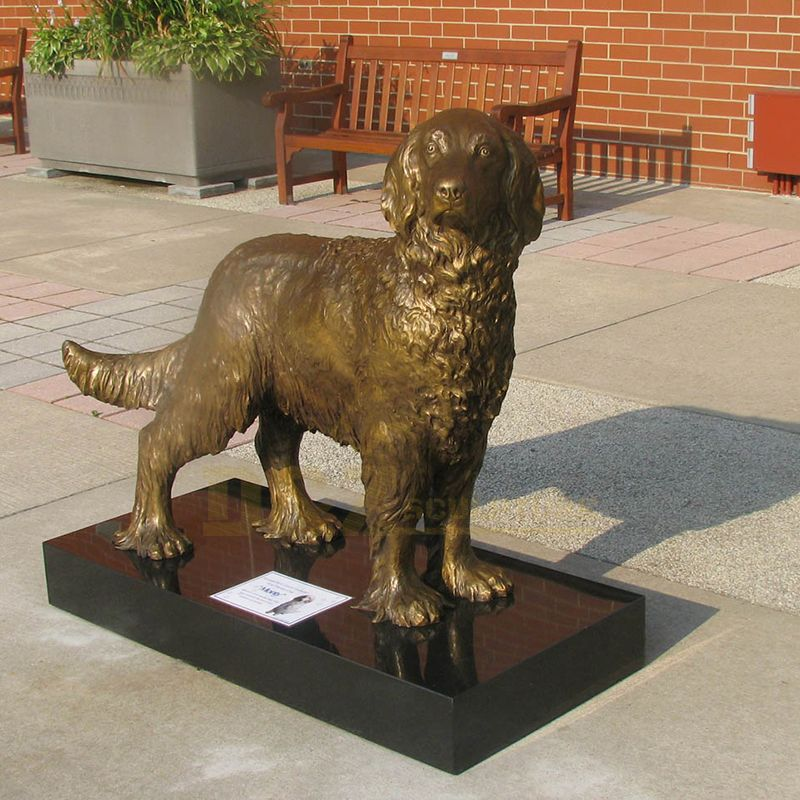 Garden Decor Life Size Bronze Dog Sculpture