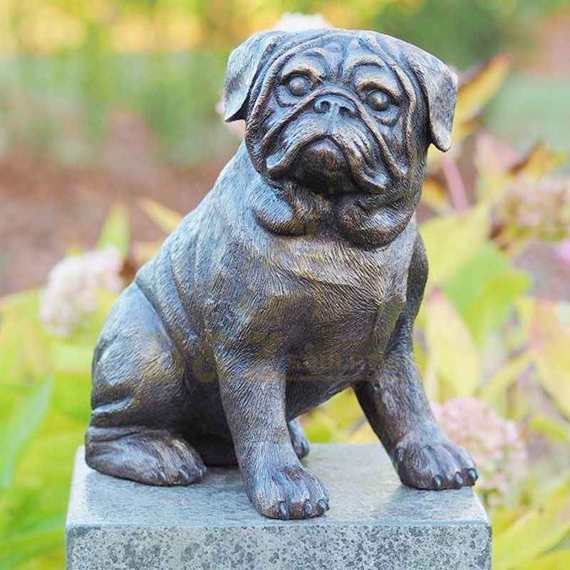Home or Park Decor Life Size BrassCopper Dog Sculpture