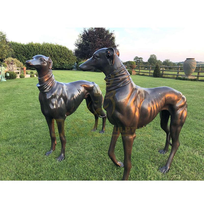 Life Size Animal Brass Dog Sculpture for Decoration