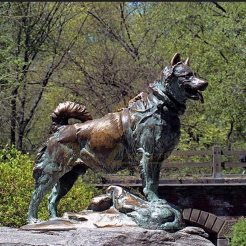 Popular Animals Statue Ornament Brass Dog Sculpture