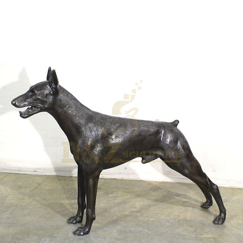 Brass Foundry Animal Statue Large Bronze Dog Sculpture
