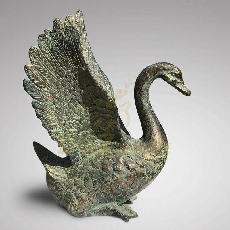 China Factory Seller Cast Bronze Sculpture Swan Statue