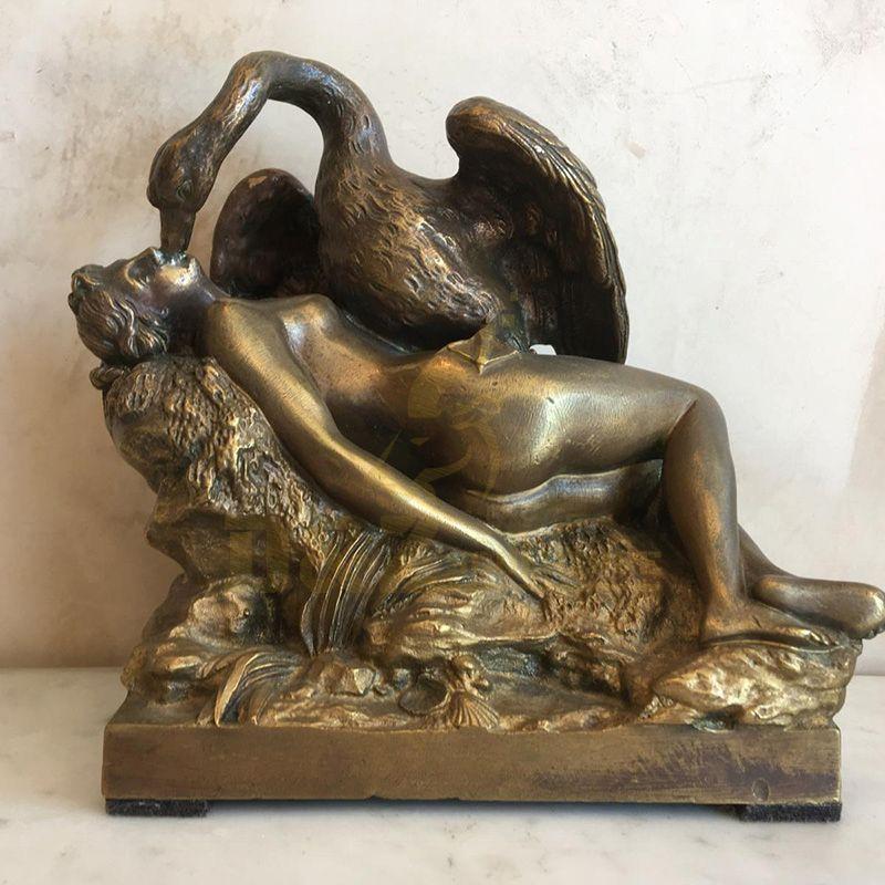 Outdoor Ornaments Statue Garden Decoration Bronze Swan Sculpture