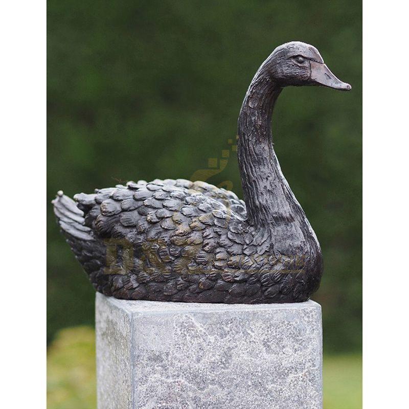 Home Decoration Bronze Metal Art Wild Swan Birds Art Crafts Statue Sculpture