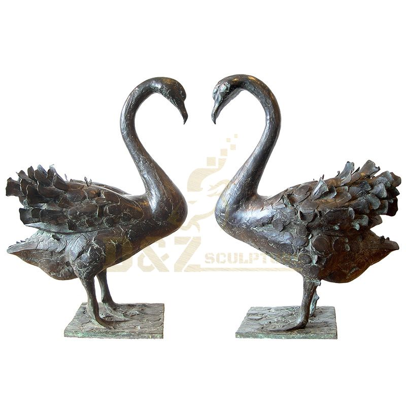 Bronze Swan Sculpture Outdoor Garden Decoration
