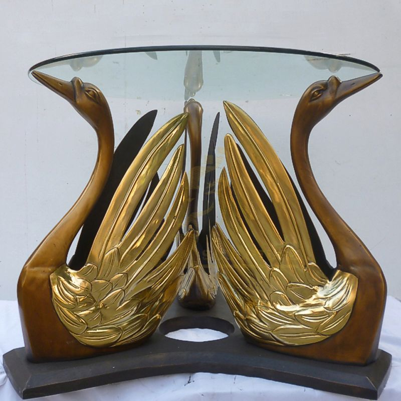 Hot Selling Desk Bronze Birds Bronze Swan Sculpture