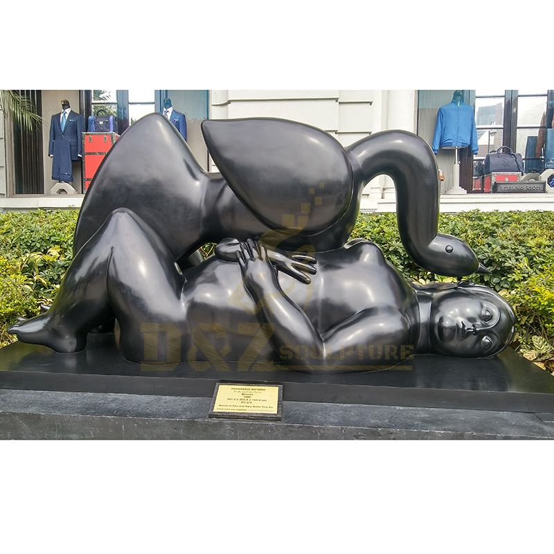 Outdoor Garden High Quality Bronze Fernando Botero sculpture for Leda and the Swan