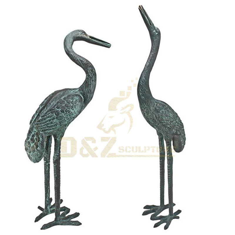 Professional Supplies Bronze Heron Crane Sculpture