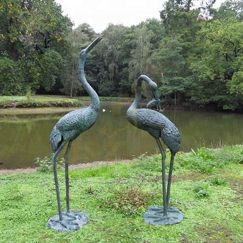 High Quality Bronze Crane Heron Sculpture